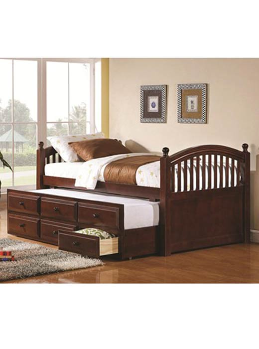 Day Beds And Trundles Archives, Coaster La Salle Twin Captain S Bed With Trundle And Storage In White