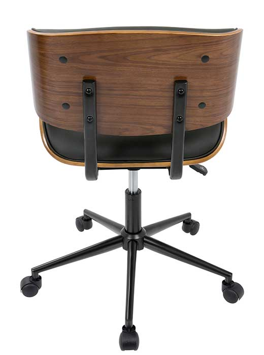 Lombardi Office Chair Black Walnut Affordable Portables