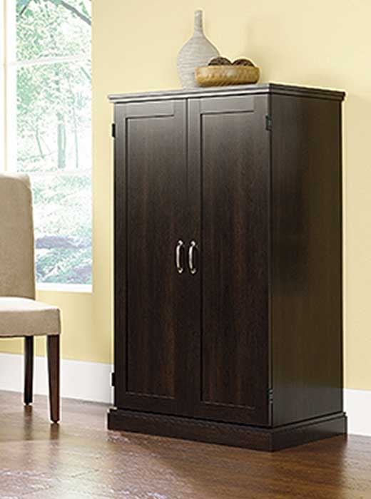 Computer Armoire - Cinnamon Cherry Finish
