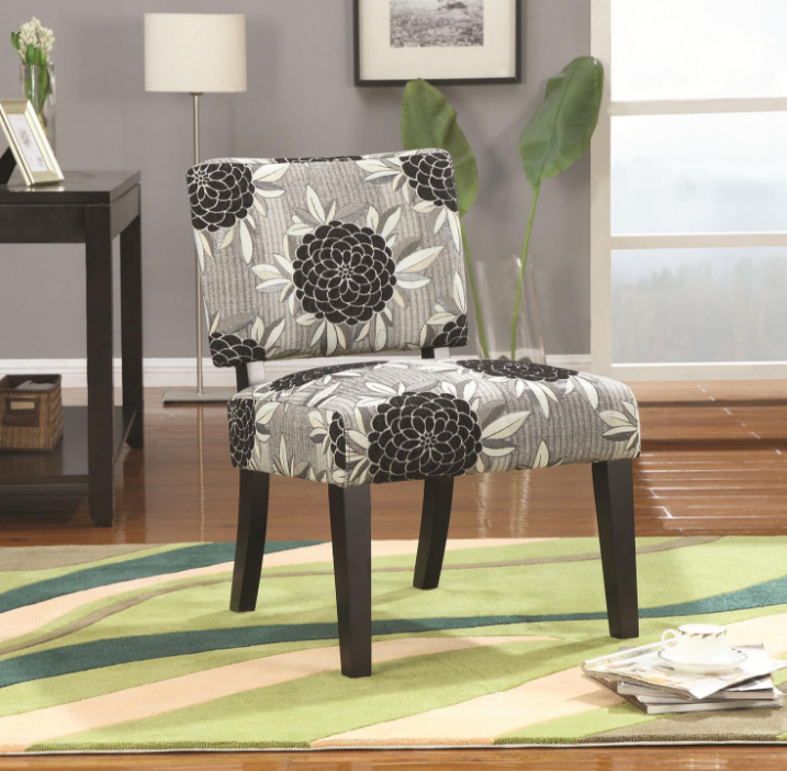 Accent Chair Black White Grey Cap902050 Affordable Portables