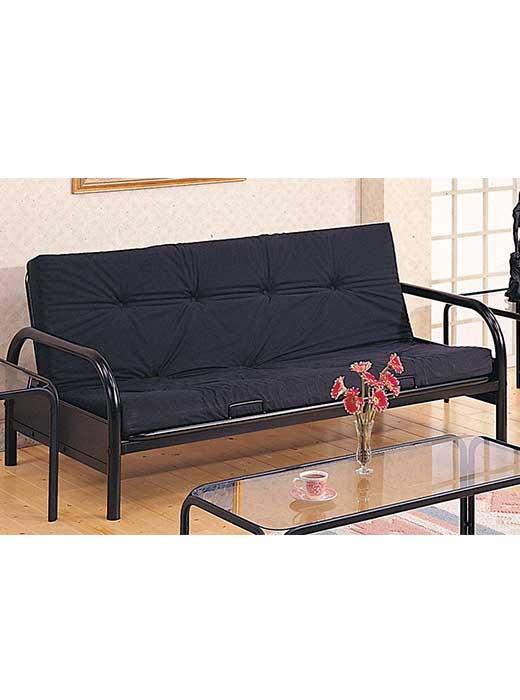 casual black metal futon frame casual black metal futon frame   affordable portables  rh   affordableportables