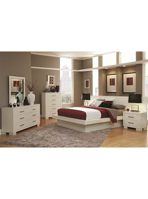 Jessica King 5 Piece Bedroom Set White | Affordable Portables