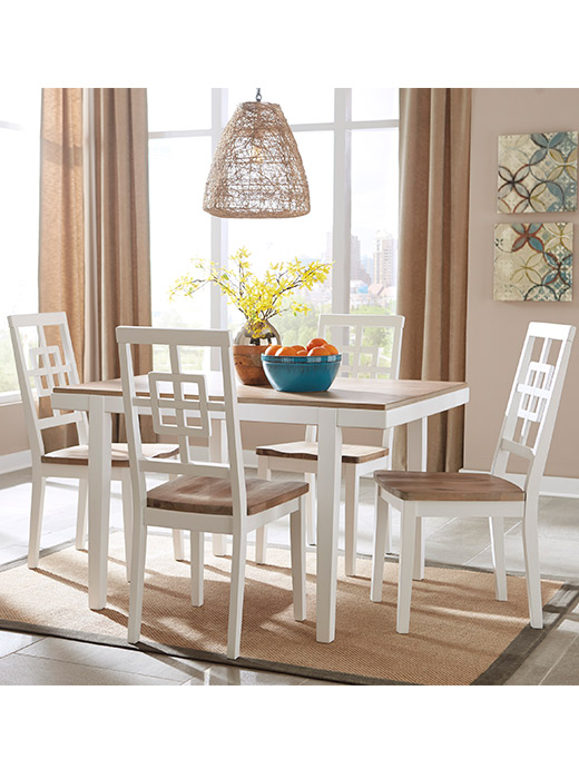 5 piece bravada two tone table set affordable portables for Table 52 chicago closing