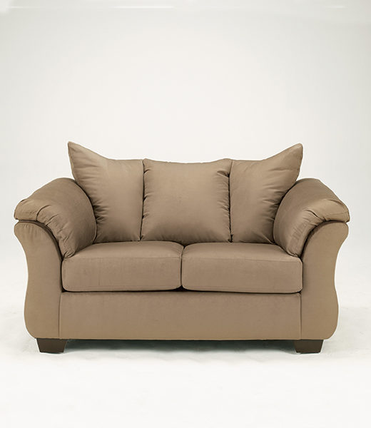Darcy Mocha Loveseat Affordable Portables