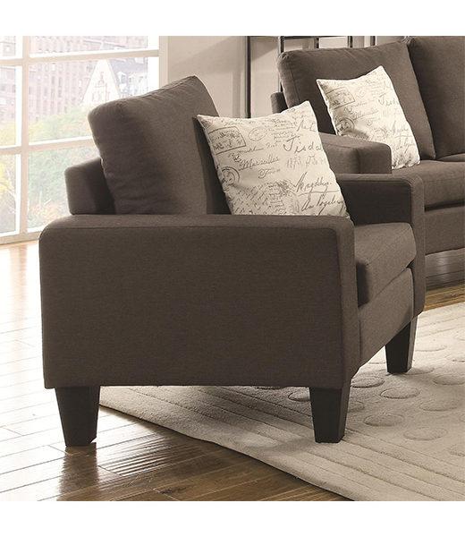 Bachman Grey Linen Chair Affordable Portables