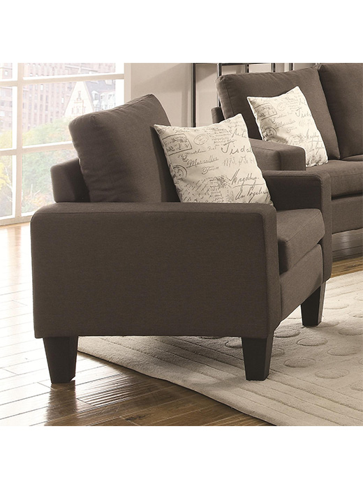 Bachman Grey Linen Chair Affordable Portables