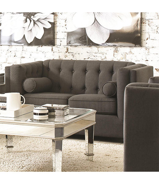 Charcoal Loveseat Affordable Portables