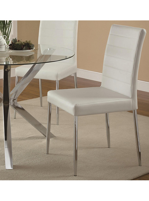 Contemporary Vance Dining Set In White Affordable Portables