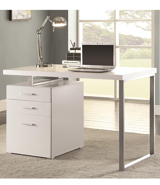 Desk With File And Drawers Left