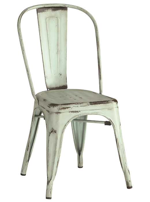 Industrial Metal Chair Blue Affordable Portables