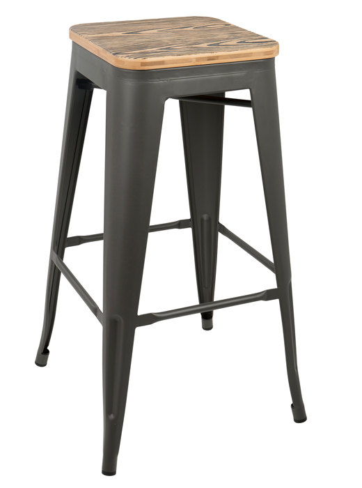 2 Oregon Bar Stools Grey Brown Affordable Portables