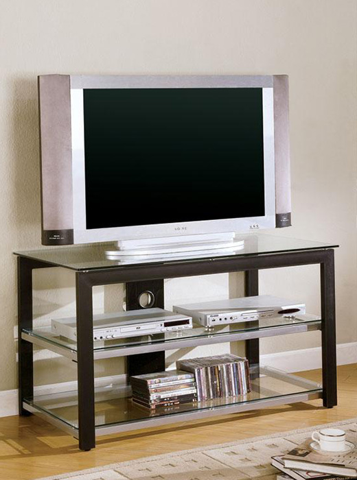 Tv Stands Contemporary Metal And Glass Affordable Portables
