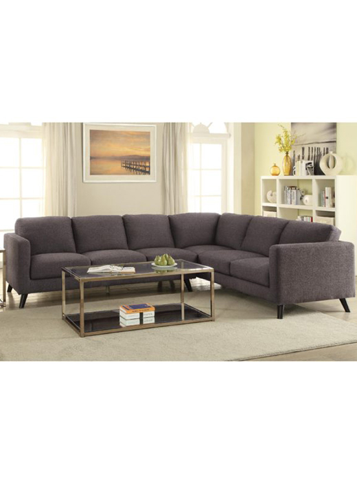 sectional sofa dark brown