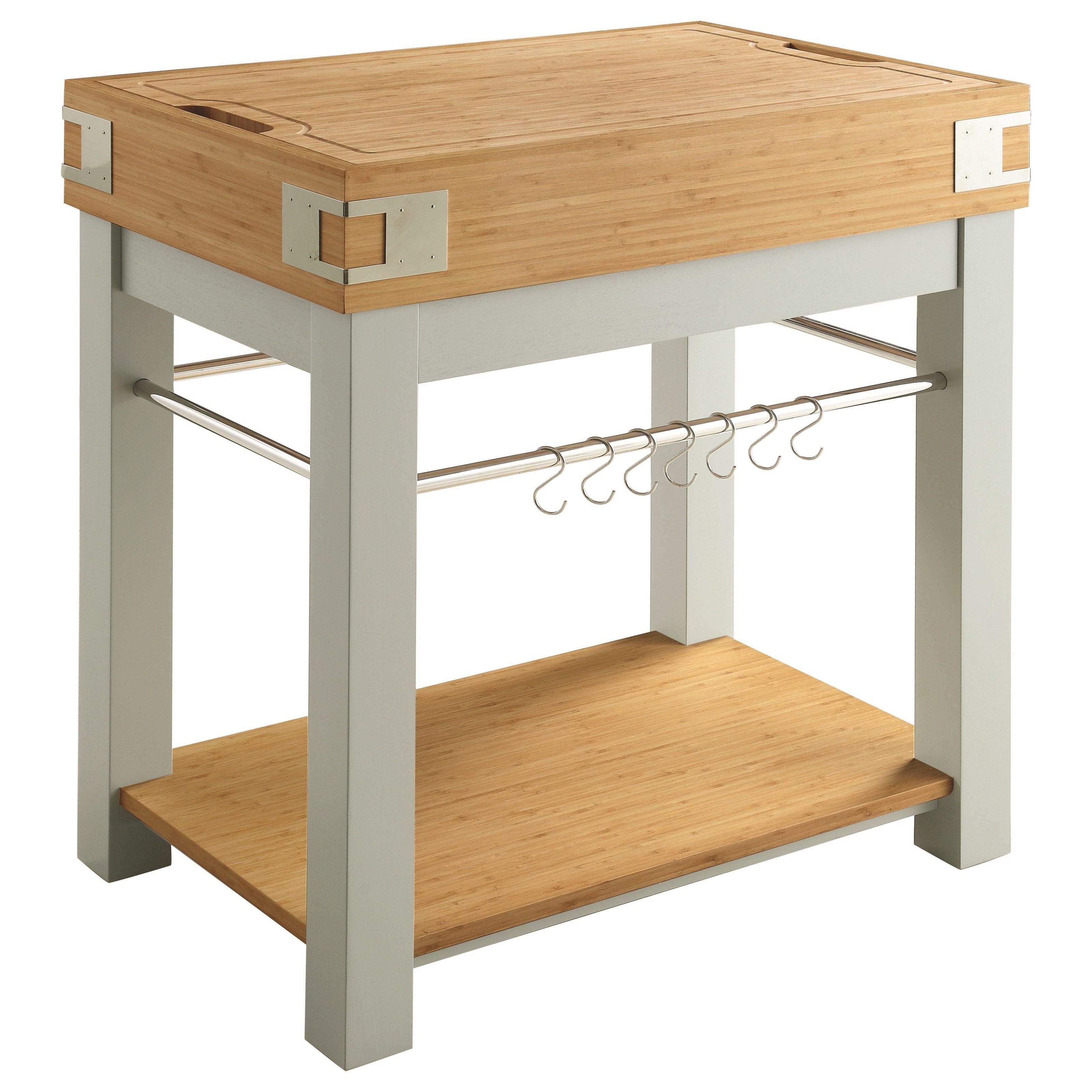 Scott Living Cap102986 Kitchen Cart Cutting Board Affordable Portables
