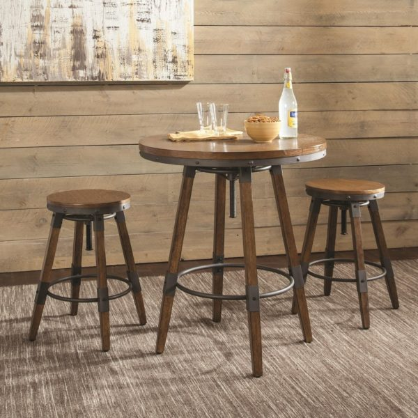 Counter Bar Height Adjustable Table Set