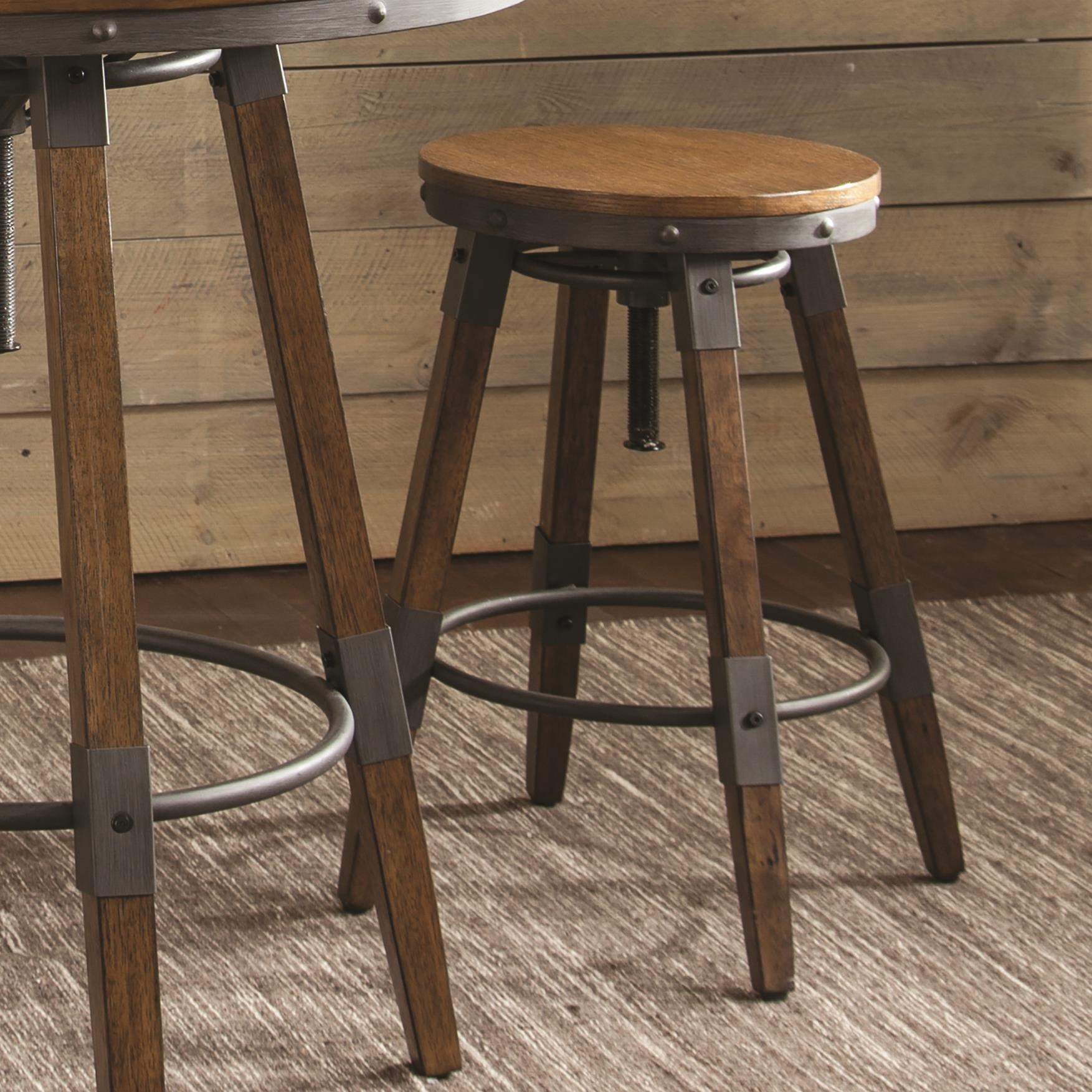 Hornell Rustic 3 Piece Set Adjustable To Counter Or Bar
