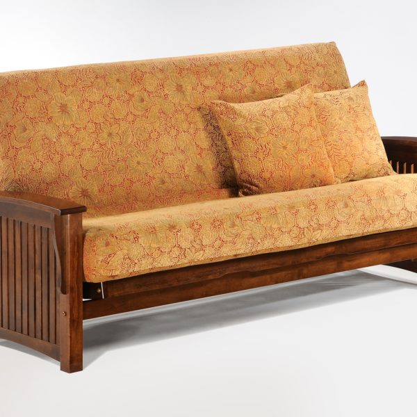 Futon Winter Arm Black Walnut Affordable Portables