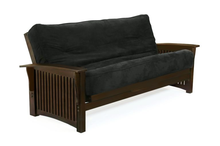 Futon Winter Arm Dark Chocolate Affordable Portables Chicago and Evanston