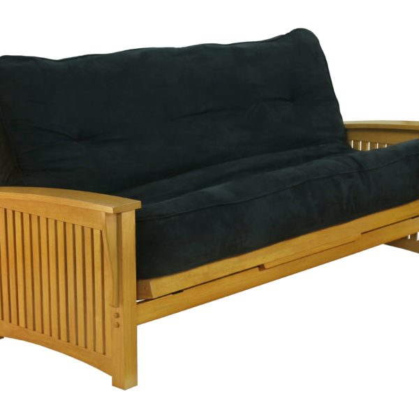 Futon Winter - Honey Oak Affordable Portables Chicago Evanston