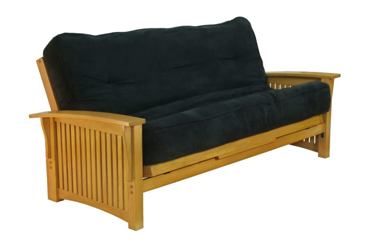 Futon Winter - Honey Oak Affordable Portables Chicago Evanston