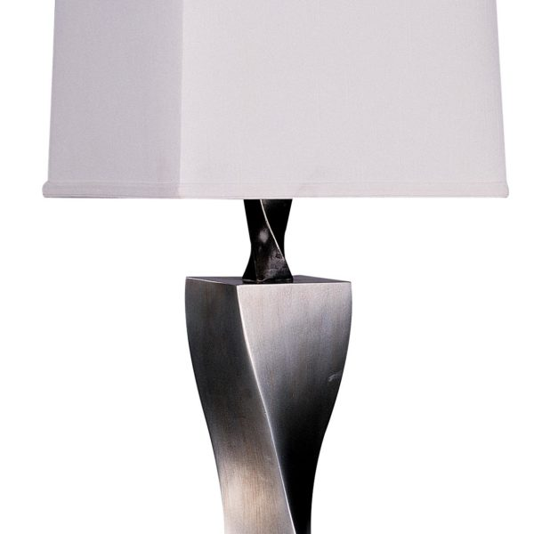 Antiqued Silver Table Lamp