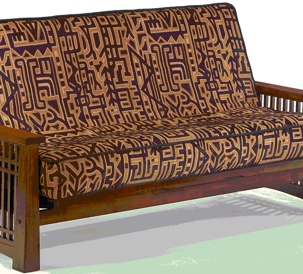 Futon Solstice Arm Black Walnut Affordable Portables