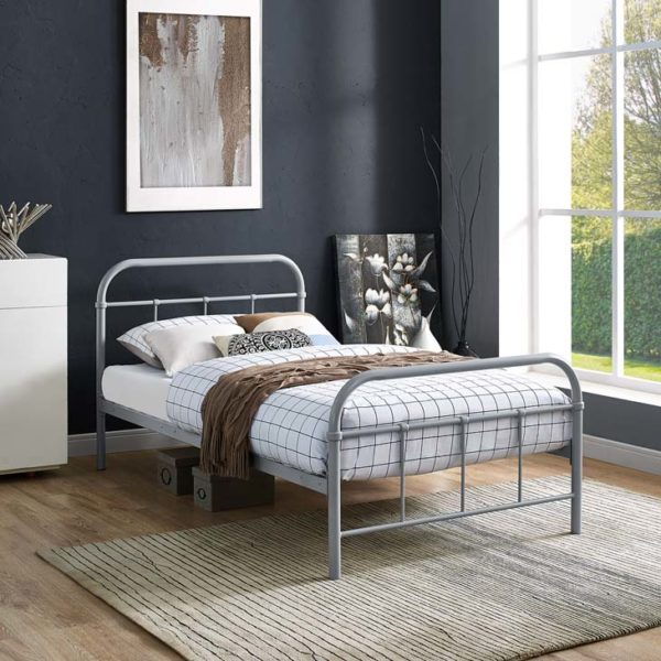 MODWAY-BED-MAP5532-GRY-Twin-Affordable-Portables