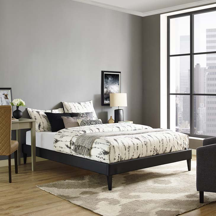 Tessie Twin, Full or Queen Bed Frame - Black - Affordable Portables