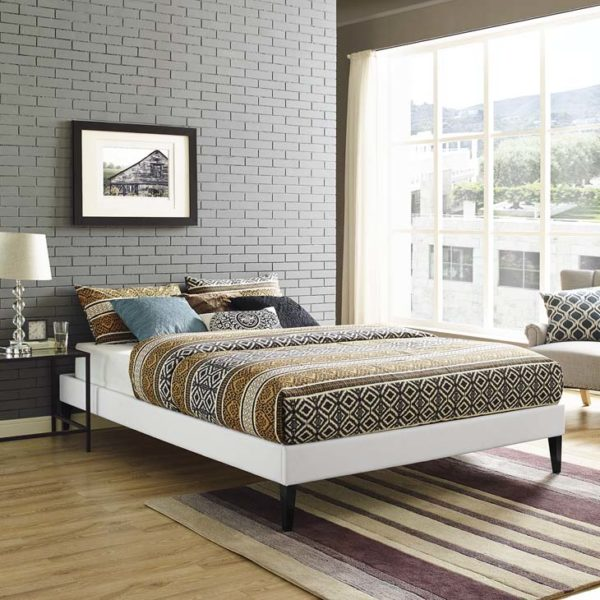 Tessie Full Bed Frame - White