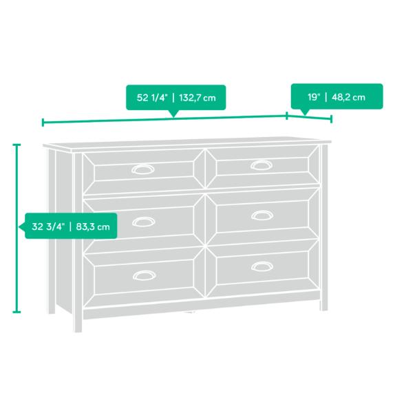 County Line 6 Drawer Dresser Affordable Portables