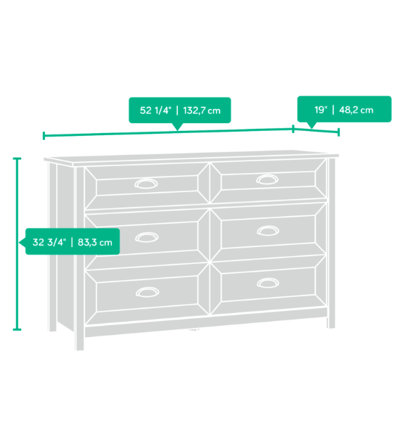 County Line 6 Drawer Dresser Affordable Portables