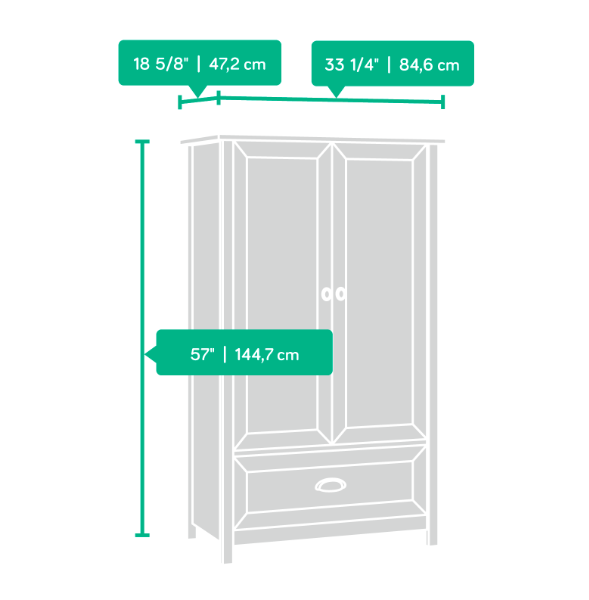 County Line Armoire Affordable Portables