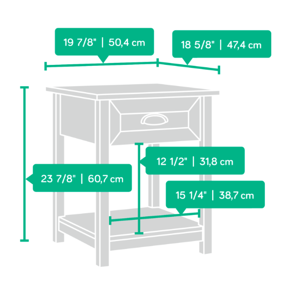 County Line Night Stand Affordable Portables