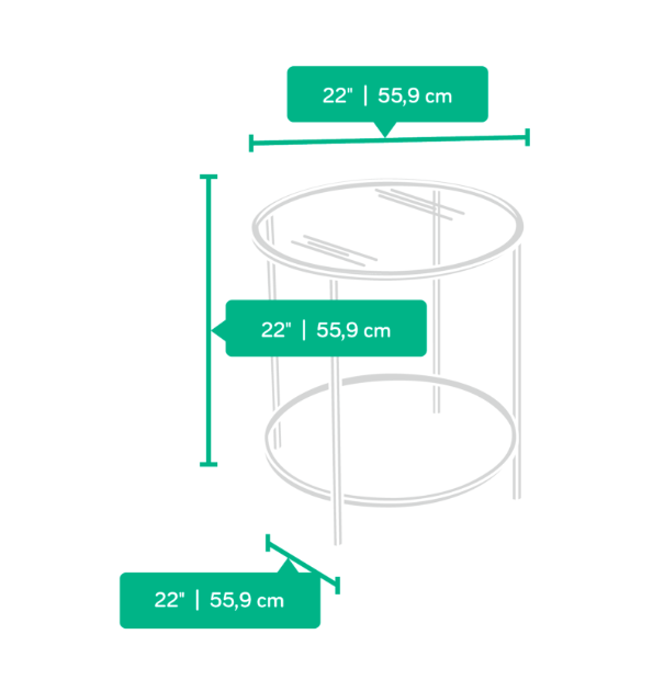 Round Glass Side Table Affordable Portables