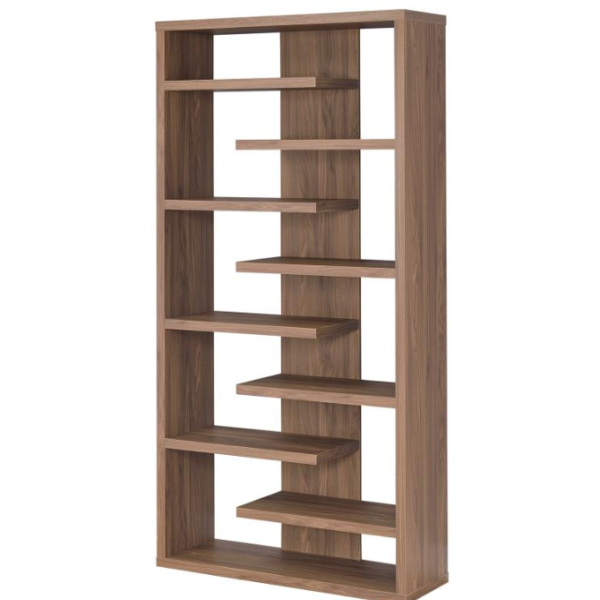 Bookcase Interjecting Shelves Affordable Portables