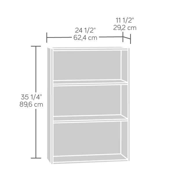 3 Shelf Bookcase Dimensions Affordable Portables