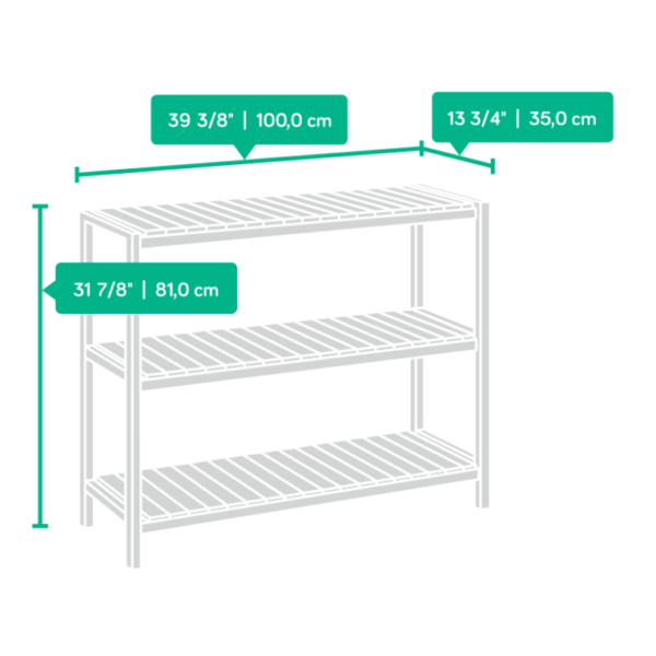 Console White Open Shelves Affordable Portables