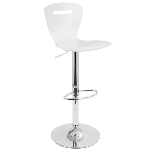 H2 Bar Stool White Affordable Portables