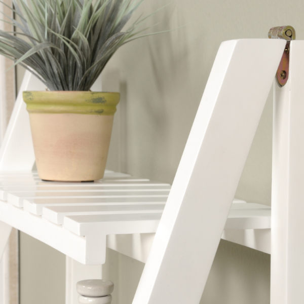 Ladder Shelf White Affordable Portables