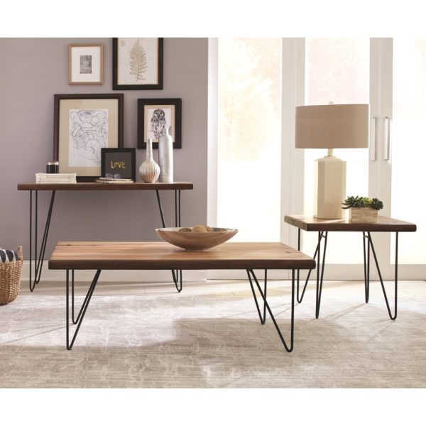 Live Edge End Table Group Affordable Portables