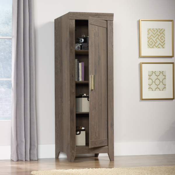 Narrow Storage Cabinet Fossil Oak Affordable Portables