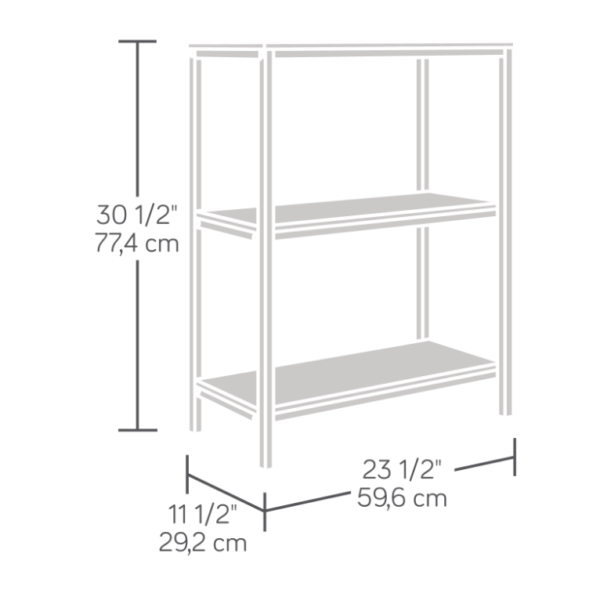 North Avenue 2 Shelf Bookcase Affordable Portables