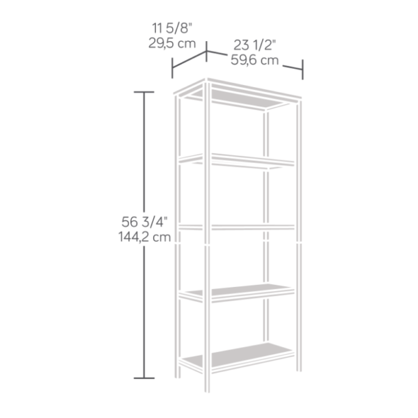 North Avenue 4 Shelf Bookcase Affordable Portables