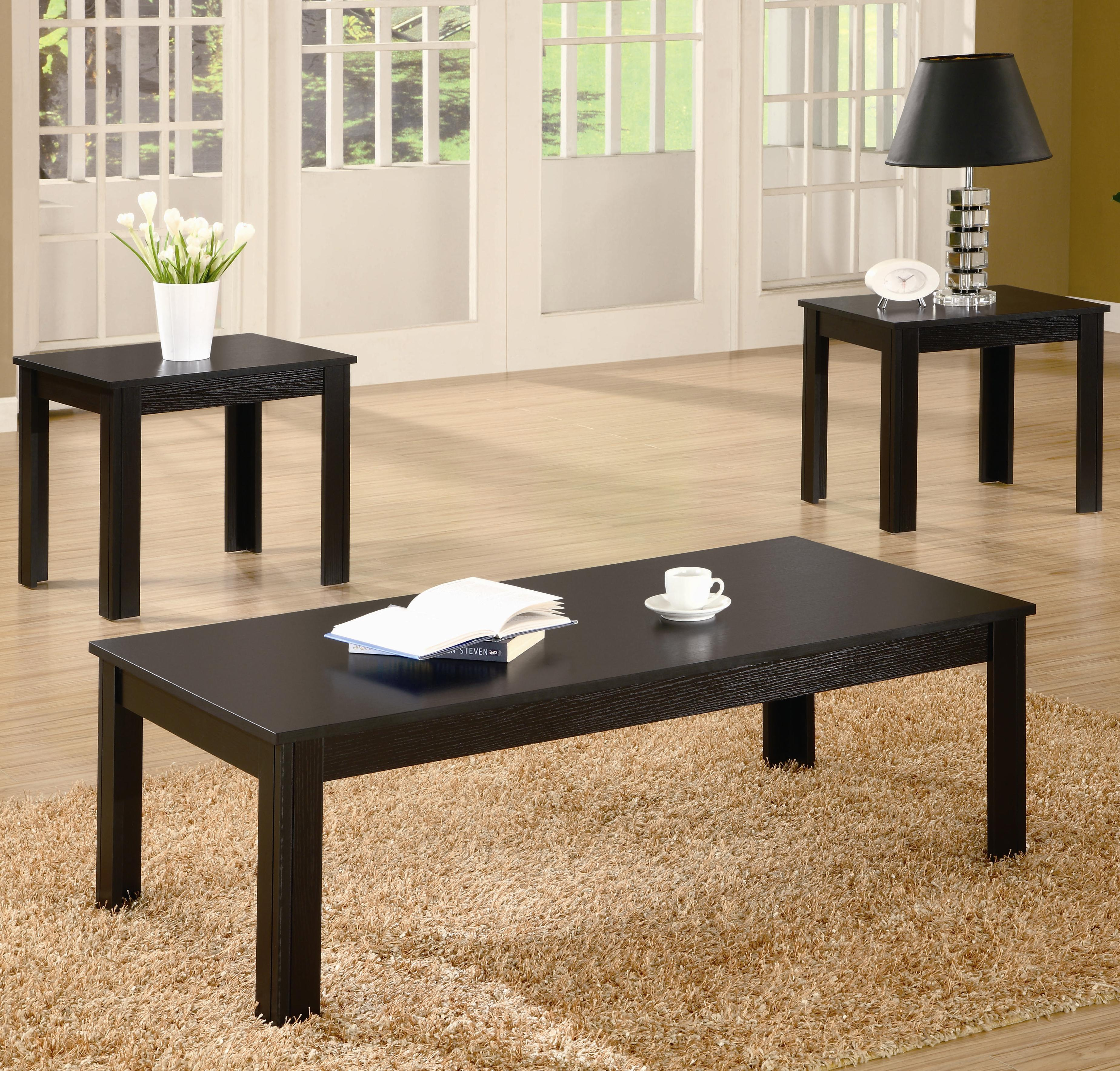 Coffee table and 2 side tables 3 piece occasional table set affordable portables