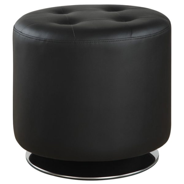 Ottoman Black Tufted Affordable Portables
