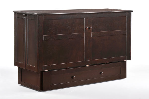 Clover Murphy Cabinet Bed Dark Chocolate Affordable Portables