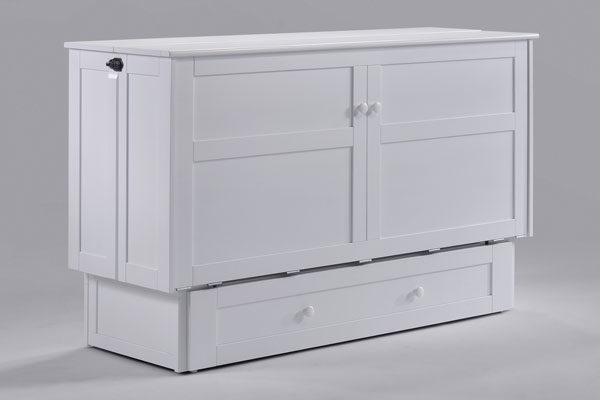 Clover Murphy Cabinet Bed White Affordable Portables