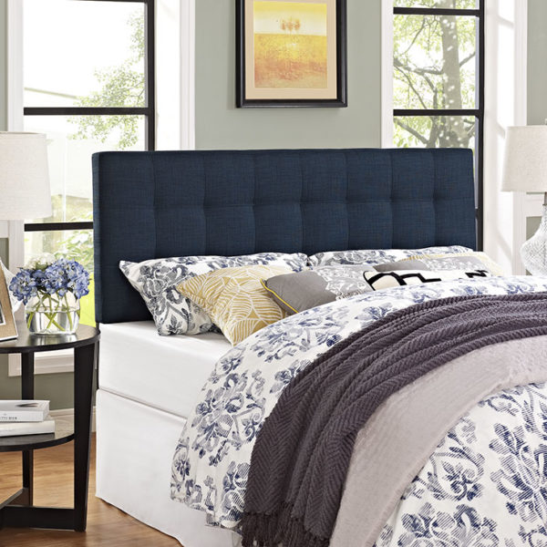 Lily Headboard Navy Affordable Portables