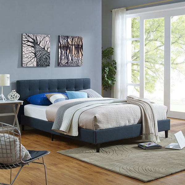 Linnea Bed in Azure Affordable Portables Chicago