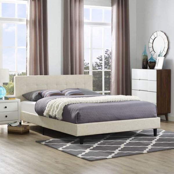 Linnea Bed Beige Affordable Portables Chicago